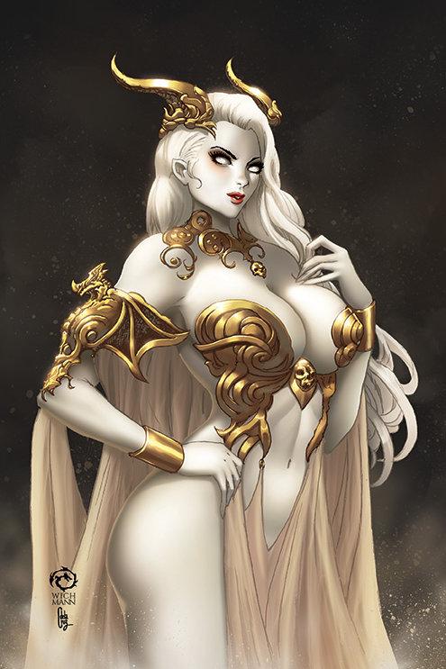 Lady Death: Dragoness Museum Art Print