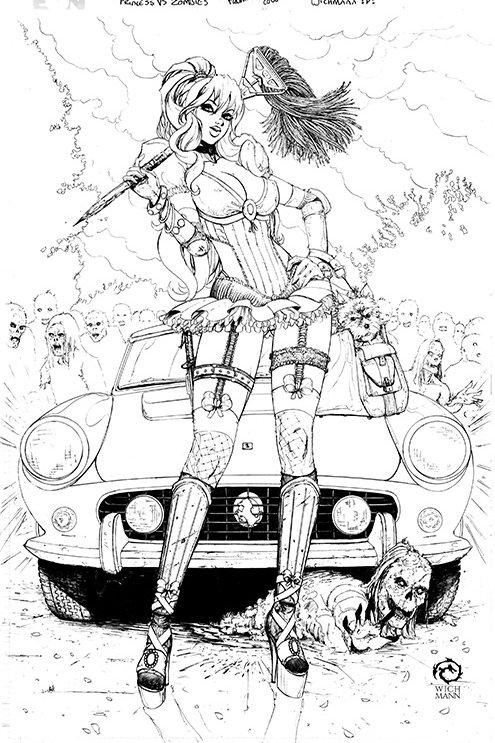 Princesses vs. Zombies - Cinderella Original Art