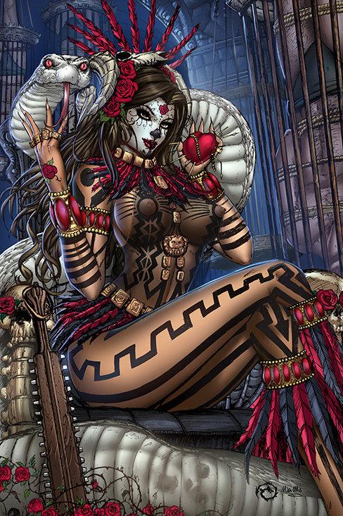 La Muerta: Deadly Mama Z Museum Art Print