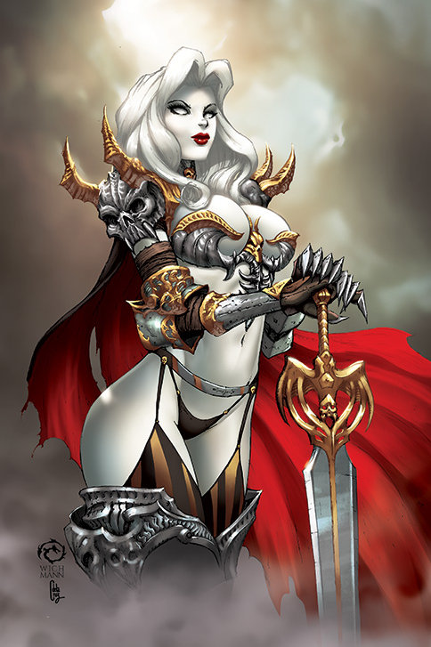 Lady Death: Demon Knight Museum Art Print