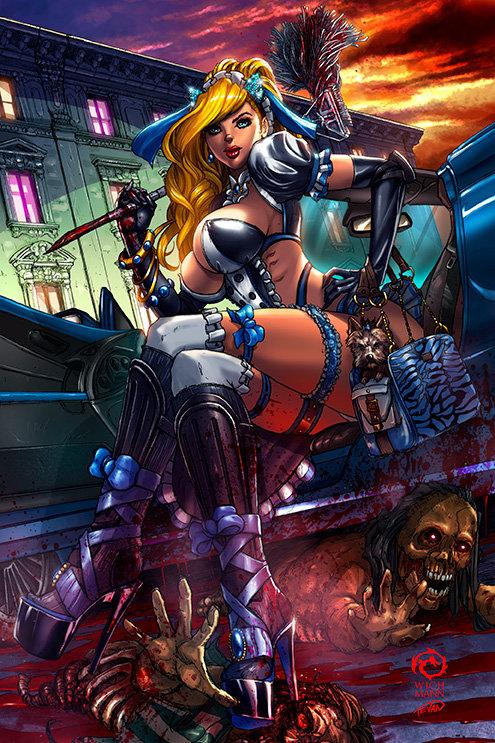 Princesses VS Zombies Maid Squad Cindy Print