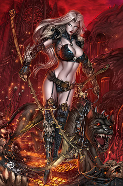 Lady Death Chaos Rules #1 Inferno Ed