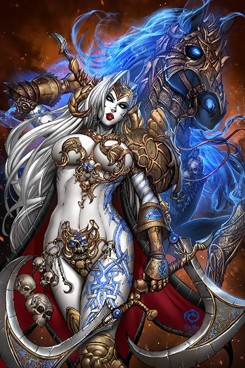 Lady Death: Hel Destroyer Museum Art Print