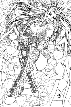 Lady Death Icons #1 Line Art