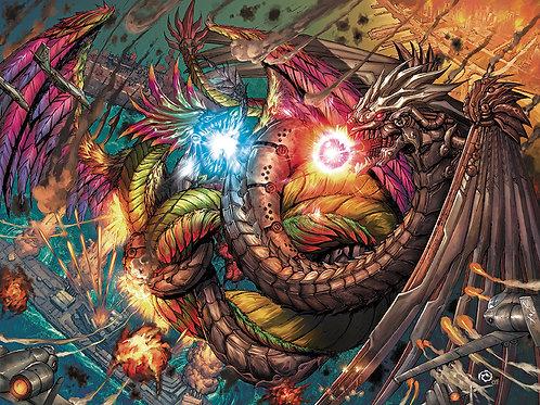 Kaiju Epic! #1 - JSW Battle for San Diego Variant