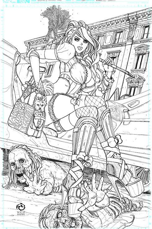 Princesses VS Zombies Cindy Archive Print