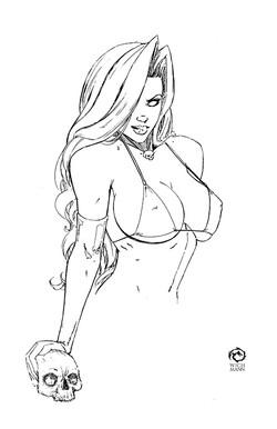 Lady Death Sketch