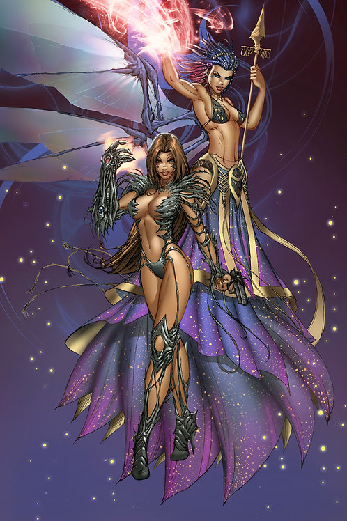 Witchblade and Soulfire Print
