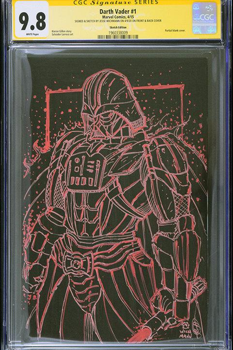 CGC 9.8 Darth Vader #1 - Original Sketch Cover