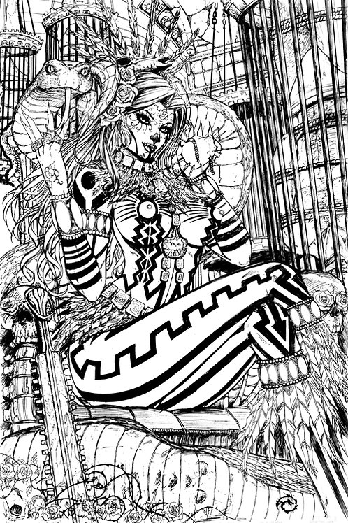La Muerta #1 Naughty Mama Z Original Art