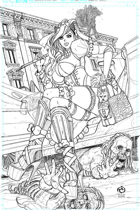 Princesses VS Zombies Maid Squad Cindy Archive Print