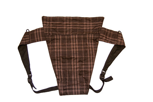 Brown Plaid Black Back