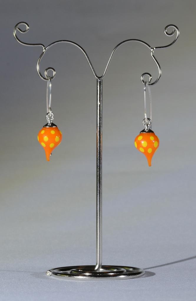 Orange spot earrings