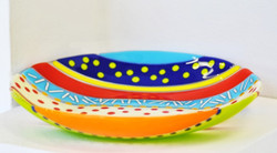 Colourful glass bowl