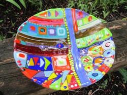 Mosaic glass bowl