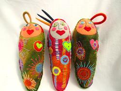 Trio of Heartfelt Dolls