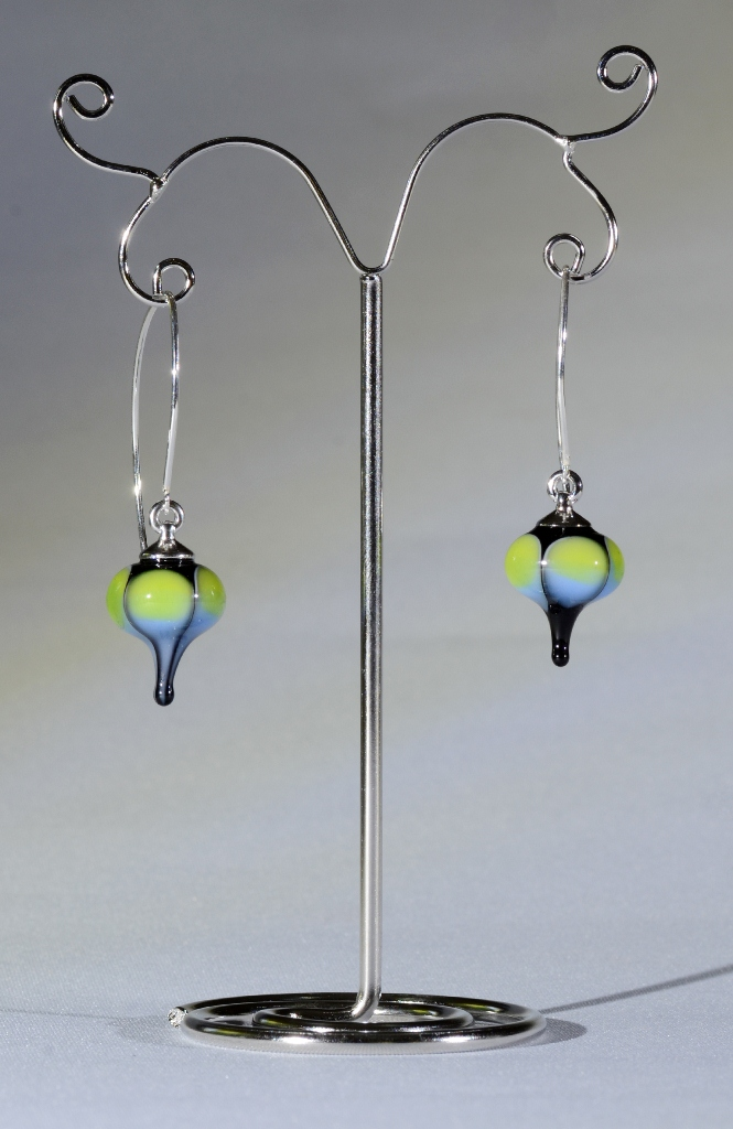 Colour drop earrings