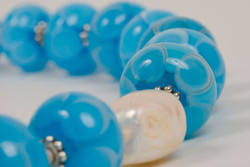 Flameworked beads & pearl