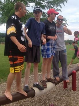 Having fun at Klondike park