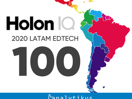 HolonIQ announced the first annual LATAM EdTech 100 list Latin America.
