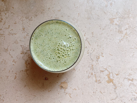 My everyday vanilla green smoothie (with butternut squash!)