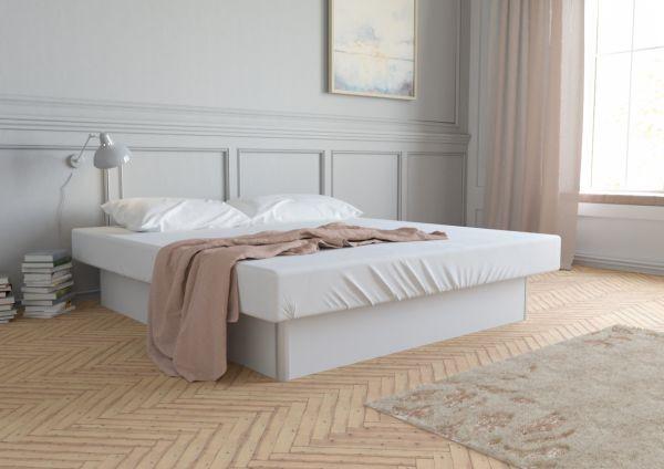 Vodná posteľ s bielym podstavcom