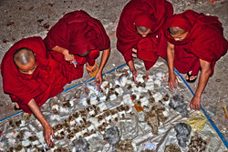Monks Shopping at Balloon Festival, Taunggyi, Myanmar 2009