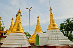 Small Pagodas at Shwedagon, Yangon 2009