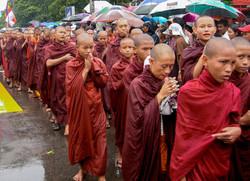 Buddhist Monks, September 2007 Demonstrations, Yangon 2007-2