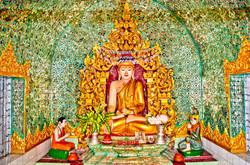 Sitting Buddha, Sule Pagoda, Yangon 2007