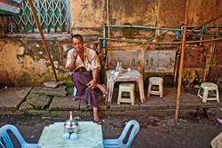 Man in Teashop, Yangon 2008