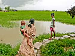 Children in Rice Paddy, near Yangon 2007