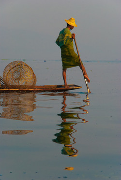 Man Fishing, Inle Lake, Myanmar 2009