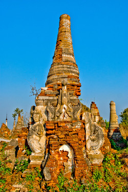 Old Brick Pagodas, Indein, Inle Lake, Myanmar 2009