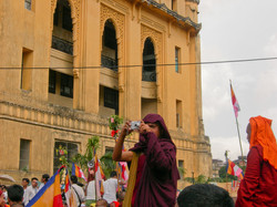 Monk with Camera, September 2007 Demonstrations, Yangon 2007