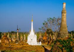 White Pagoda, Indein, Inle Lake, Myanmar 2009