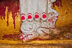 Buddha Hand and Elephant, Htat Sann Cave, Taunggyi, Myanmar 2008