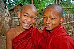 Two Young Monks, Inwa (Ava), Myanmar 2007