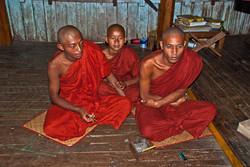 Monks in Monastery, Inle Lake, Myanmar 2009-2