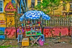 Street Vendor, Yangon 2008