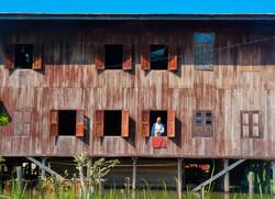 Man in Window, Inle Lake, Myanmar 2008