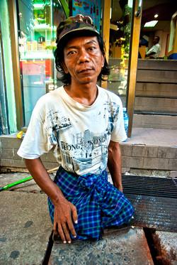 Legless Man, Yangon 2010