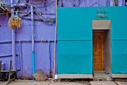 Brightly Colored Building, Yangon 2010