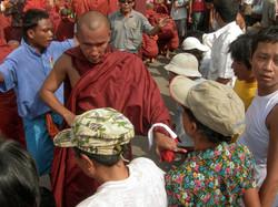 Monk, September 2007 Demonstrations, Yangon 2007