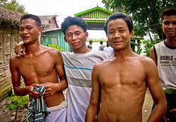 Young Men, near Yangon 2007