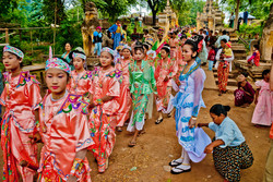 Shinbyu Procession, Inwa (Ava), Myanmar 2007