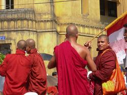 Monks, September 2007 Demonstrations, Yangon 2007