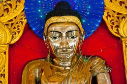 Golden Buddha, Shwemyetman Pagoda, near Pyay, Myanmar 2008