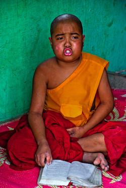 Young Monk Studying, Naung Shwe, Inle Lake, Myanmar 2010-2