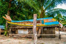 Airplane Sculpture, island village, Beik (Mergui) Archipelago, Myanmar 2008